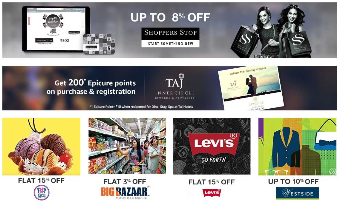 Top 10 Best Gift Vouchers in India 2017 – The smartest and quickest